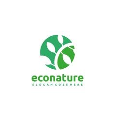 Eco nature logo vector