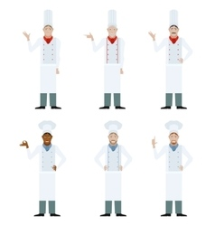 Set of cooks vector