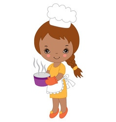 African American Little Girl vector image vector image