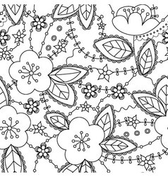 apple-flowers-coloring-antistress-Converted vector image vector image
