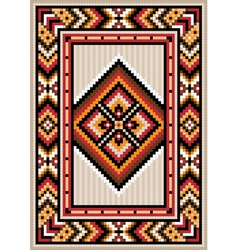Asian design in the frame for carpet vector image