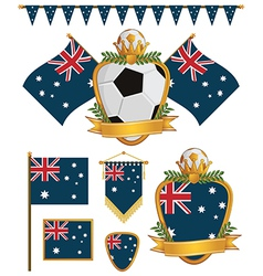 australia flags vector image