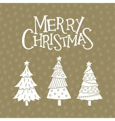 christmas card with christmas trees vector image vector image