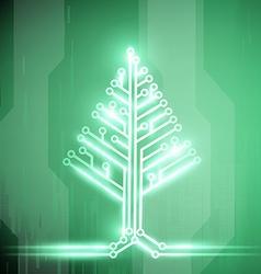 Christmas tree Stock vector image vector image