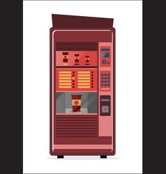 Coffee vending machine icon vector