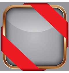 Cooper blank app icon with red ribbon vector image vector image