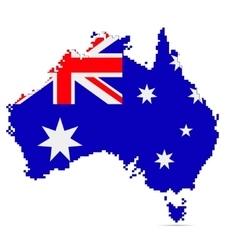Creative pixel australia map vector
