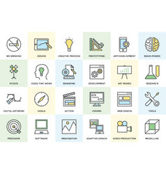 Creative process icons 1 vector