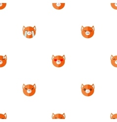 flat cartoon fox heads with different vector image vector image