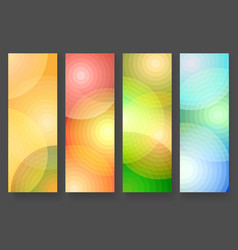 four abstract vertical colorful banners vector image vector image