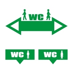 Green plate wc vector