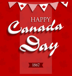 happy canada day4 vector image vector image