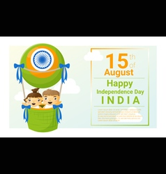 Happy independence day india 15th of august vector