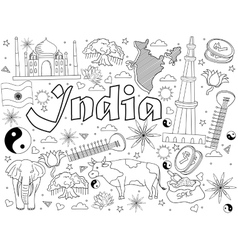 India coloring book vector image