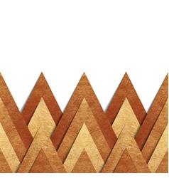 Metallic old gold paper border background vector
