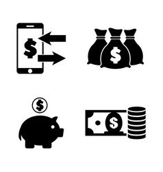 moneys simple related icons vector image