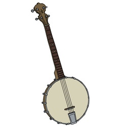 Old four strings banjo vector