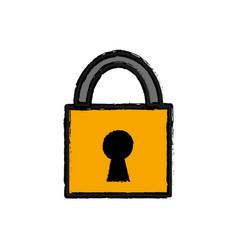 Padlock service security symbol icon vector
