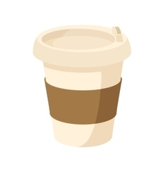 Paper cup of coffee icon cartoon style vector image vector image