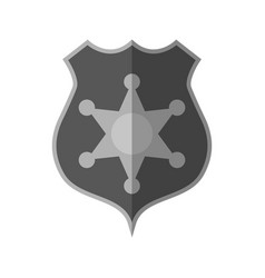 police badge icon image vector image vector image
