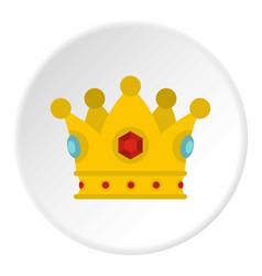 Precious crown icon circle vector