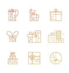 Present icons vector