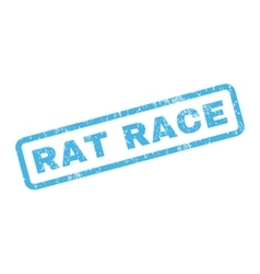 Rat race rubber stamp vector