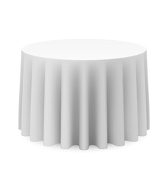 Round tablecloth vector