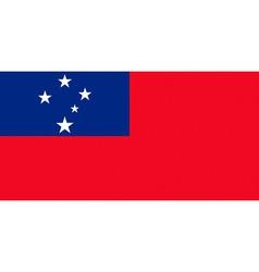 Samoan flag vector