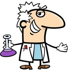 scientist with vial cartoon vector image