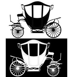 silhouettes of a brougham vector image vector image