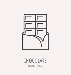 Simple logo template chocolate vector
