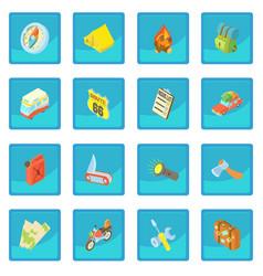 Travel icon blue app vector