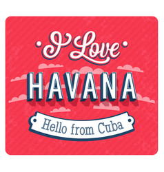 vintage greeting card from havana vector image