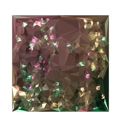 Antique bronze abstract low polygon background vector
