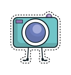 Photographic camera kawaii character vector