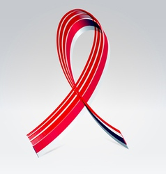 Symbolic striped red ribbon vector