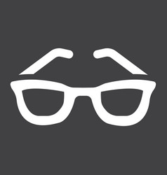 Sunglasses solid icon travel and tourism vector