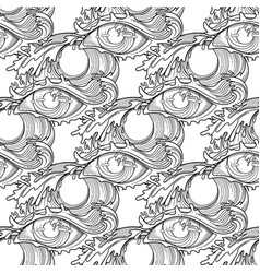 Abstract graphic eye vector