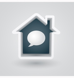 House chat vector image