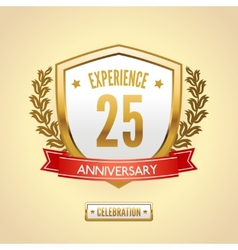 Anniversary label shield vector