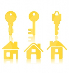 House key icons vector