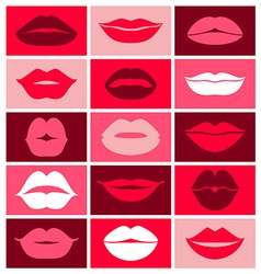 Design of lips icons vector