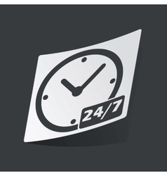 Monochrome overnight daily workhours sticker vector