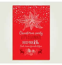Christmas party invitation holiday card vector