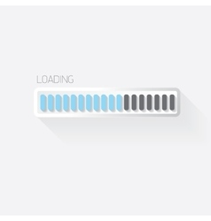 Flat white modern design progress bar vector