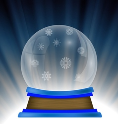 Empty snow globe vector