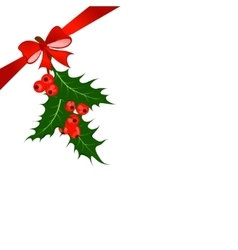 Holly berry christmas symbol vector