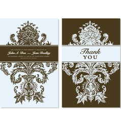 Thank you card templates vector