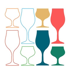 Alcoholic glass silhouette silhoutte vector